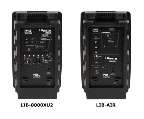 Anchor Liberty Deluxe AIR Package Dual (WH-8000) Portable Sound System with 2 WH-8000 Handheld Mic/Transmitters LIB-DPDUALAIR-WH8000