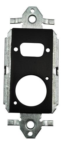 FSR, Inc SS-P2XLR-BLK 2 Neutrix D-Hole Plastic Decora Insert SS-P2XLR-BLK