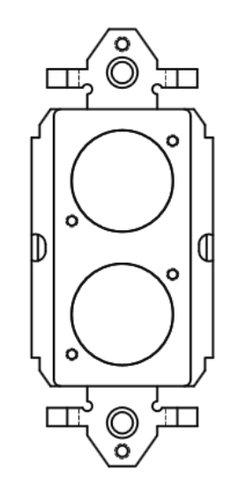 FSR SS-P2XLR-BLK 2 Neutrix D-Hole Plastic Decora Insert SS-P2XLR-BLK