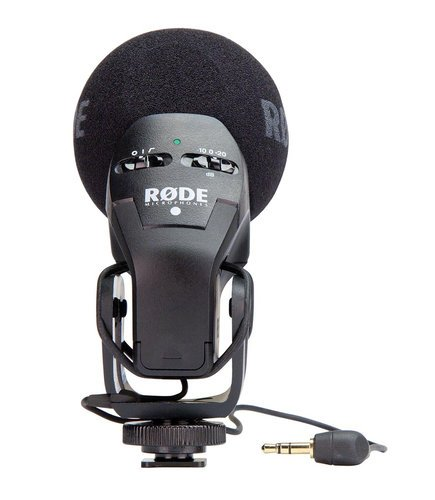 Rode STEREO-VIDEOMIC-PRO Professional Stereo Camera Microphone with Shockmount STEREO-VIDEOMIC-PRO