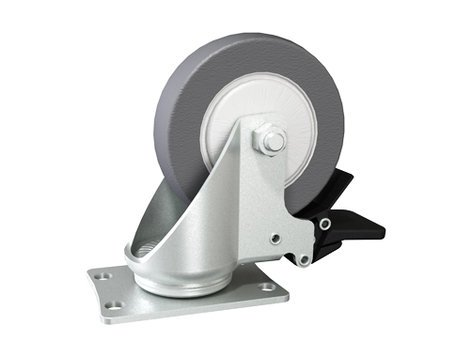 Grundorf Corp 37-028 Rear Swivel Replacement Caster with Brake for 73-001 Road-Runner Cart 37-028