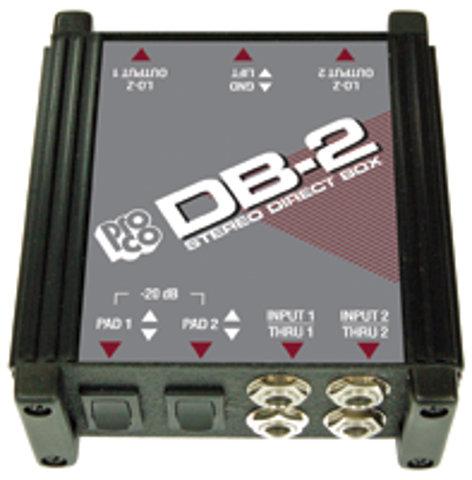 Pro Co DB-2 Stereo Direct Box DB2
