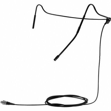 Sennheiser HS 2 3 EW Headworn Microphone with Integrated MKE2 Gold, EW Connector, Beige (Black shown) HS2-3-EW