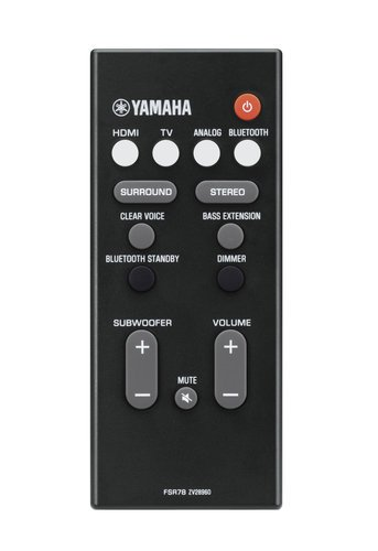 Yamaha YAS-107 MusicCast Wireless Multiroom Sound Bar, in Black YAS-107BL