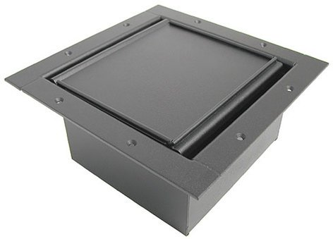 Ace Backstage Co. 122CL-BK Full Stage Pocket, with Black Powder Coat Finish and Carpet Lid 122CL-BK