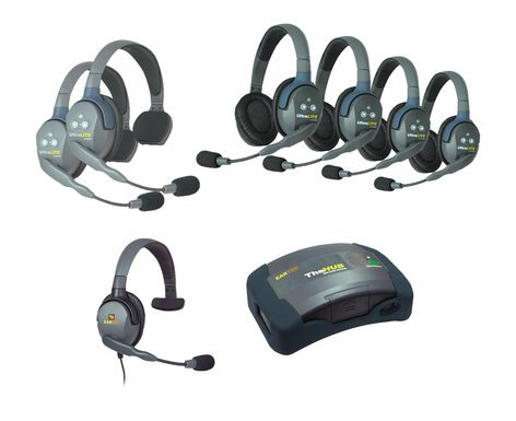 Eartec Co HUB 7-24MXS UltraLITE & HUB 7-Person System with 4 UltraLITE Doubles, 2 UltraLITE Singles & 1 Max 4G Single HUB724MXS