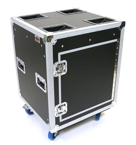 "Elite Core Audio OSP TR12U-20-SR-PD Tour Ready 12RU 20"" Deep Shock Rack with Pocket Doors TR12U-20-SR-PD"