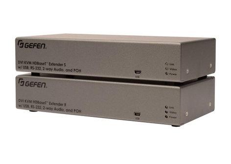 Gefen Inc EXT-DVIKA-HBT2  DVI KVM HDBaseT 2.0 Extender with USB & RS-232  EXT-DVIKA-HBT2