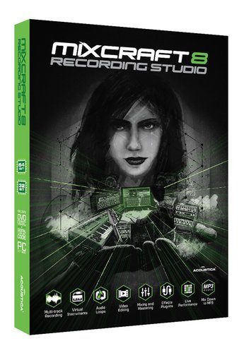 Acoustica Mixcraft 8 Recording Studio [BOXED] Music Production Software MIXCRAFT-8-BOX