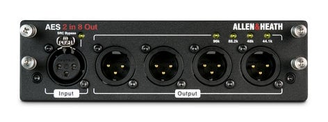 Allen & Heath M-DL-AES2I8O-A AES3 Card with 2 In and 8 Out, for dLive AH-M-DL-AES2I8O-A