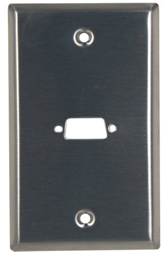 """Pro Co SP-1D  Single Gang Stainless Steel Wallplate with (1) """"D"""" Series Hole SP-1D"""