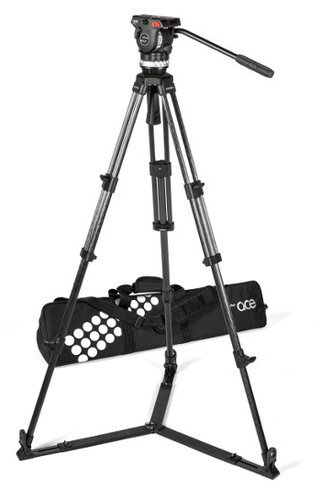 Sachtler System Ace XL GS CF Tripod System with Ace XL Fluid Head, Ace 75/2 CF Tripod, SP 75 Ground Spreader, Padded Bag 1019C