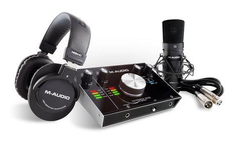 M-Audio M-TRACK-2X2S-PRO-XUS  USB Microphone Recording Bundle M-TRACK-2X2S-PRO-XUS