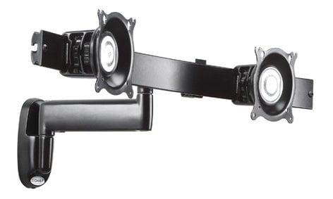 Chief Manufacturing KWS220B  Single Arm Articulating Wall Mount, Dual Monitor Array, Black KWS220B