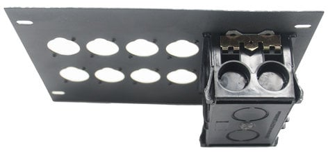 Elite Core Audio FBL-PLATE-8+AC  Insert Plate for FBL Series Floor Boxes, with AC Duplex - No Connectors FBL-PLATE-8+AC