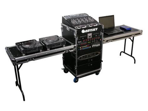 Odyssey FZ1116WDLXII ATA Combo Rack Case with Lid/Side Tables FZ1116WDLXII