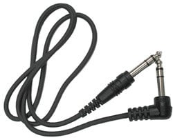 """Hosa CSS105R Audio Cable, Stereo 1/4"""" Male to Stereo 1/4"""" Right-Angle Male, 5 Feet CSS105R"""