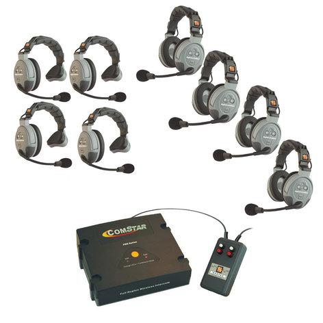 Eartec Co CSXTPLUS-8 XT-Plus Com-Center with Interface and 8 COMSTAR Headsets CSXTPLUS/8
