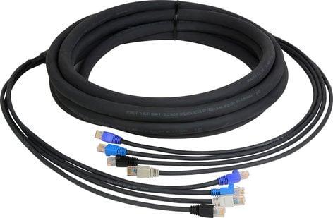 TecNec CES-RJ45-150 4-Channel RJ45 CAT5e Tactical Ethernet Snake, 150 ft CES-RJ45-150