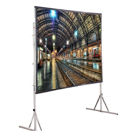 "Draper Shade and Screen 218180  79"" x 140"" Cinefold Screen with Legs 218180"