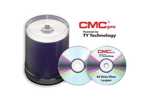 CMC Media TDPR-ZZ-SB8  8X DVD+R, 4.7GB, Shiny Silver Lacquer Coating in 100 Disc Cakebox TDPR-ZZ-SB8