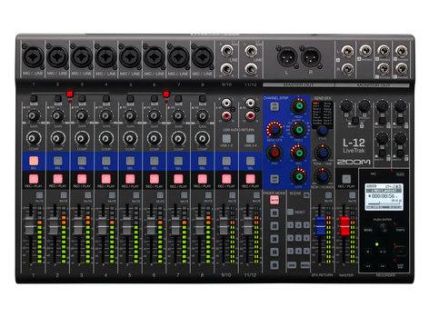 Zoom L-12 LiveTrak Digital Mixer/Recorder, 12 Channels L-12