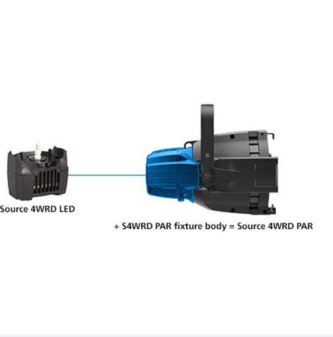 ETC/Elec Theatre Controls S4WRD PARNel Black Fixture Body Only S4WRDPARNEL