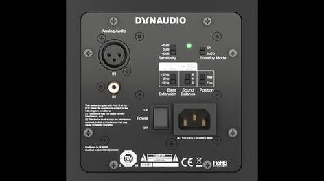"Dynaudio Professional LYD 7 (Black) Nearfield Monitor with 7"" Woofer, 2x 50W, in Black LYD-7B"