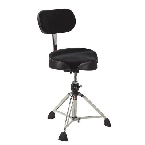 Gibraltar 9608MB Motorcycle Seat-Style Drum Throne with Backrest 9608MB