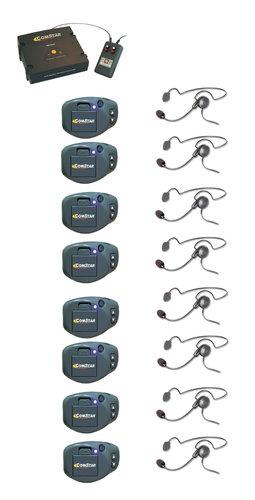 Eartec Co CPCYXTPLUS-8 XT Plus Com-Center with Interface, (8) ComPak Beltpacks & (8) Cyber Headsets CPCYXTPLUS-8