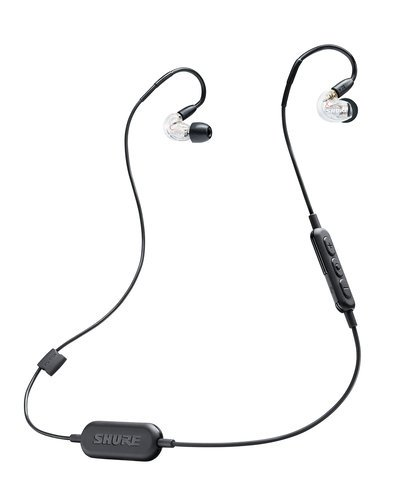 Shure SE215 Wireless Single-Driver Sound Isolating Earphones with Bluetooth, Clear Housing SE215-CL-BT1