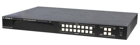 Liberty AV Solutions DL-HDM88-SS  8x8 HDMI Matrix HDMI 2.0, 4K60 4:4:4, HDCP 2.2 Compliant DL-HDM88-SS