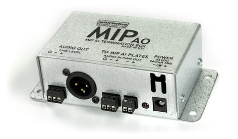 Whirlwind MIPAO/PS  MIPAI Termination Box with Screw Terminal I/O, XLRM Output, and Power Supply MIPAO/PS