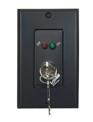Lowell RPSB2-MKP Momentary Closure Switch, 1-Gang, Black RPSB2-MKP