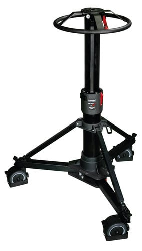 Cartoni P70+ Focus 22 System P70+ Pedestal with Focus 22 Head, (2) Pan Bars, Flat Base Adapter and Pump P70F22