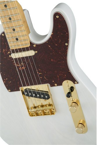 Fender 2016 Limited Edition Select Light Ash Telecaster [DISPLAY MODEL] Electric Guitar with Maple Fingerboard, White Blonde Finish TELE-SELECT-WBL-DIS