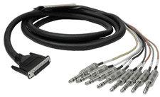 "Hosa DTP-804 Analog Breakout Snake, D-Sub 25 to 8 x Balanced 1/4"" Male, 13.2 Feet DTP804"