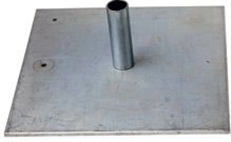 """Rose Brand PBSB0013  Steel Low Profile Base for Pipe and Base 1.0 and 2.0 Systems, Heavy 18"""" x 18"""" x 3/8"""", 35 lbs , 8"""" Pin PBSB0013"""