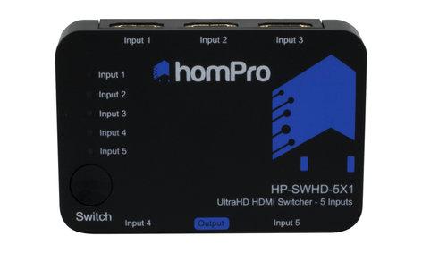 TechLogix Networx HP-SWHD-5X1 5x1 HDMI Switcher HP-SWHD-5X1