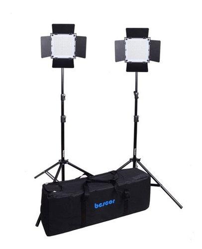 Bescor FP-576K  LED Bi-Color 2 Light Kit Wireless Remote  FP-576K