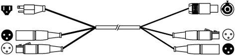 Pro Co EC3-25 25 ft Siamese Twins Audio/Power Cable EC3-25