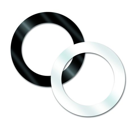 "Aquarian Drumheads PHBK Black 5"" Port-Hole for Kick Drums PHBK"