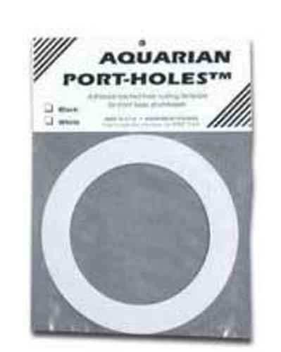 "Aquarian Drumheads PHWT White 5"" Port Hole Template for Kick Drum PHWT-AQUARIAN"