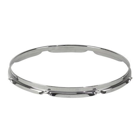 "Pearl Drums RH1608 8-Lug Regular Chrome Drum Hoop for 16"" Drums RH1608"