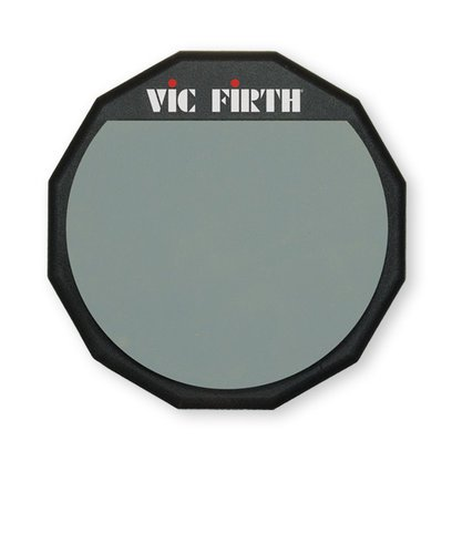 """Vic Firth PAD12 12"""" Rubber Percussion Practice Pad PAD12"""