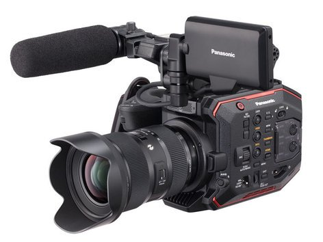 Panasonic AU-EVA1PJ 5.7K Resolution Super 35mm Compact Cinema Camera Body Only with EF Mount AU-EVA1PJ