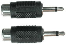 "Hosa GRM-114 Audio Adapter, RCA Female to Mono 1/8"" Male (Pack of 2) GRM114"