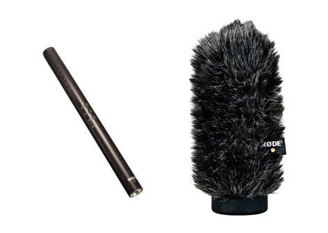 Rode NTG4+ [PROMO] Condenser Shotgun Microphone Package with WS6 Windshield NTG4+-PROMO