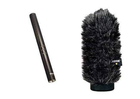 Rode NTG4 [PROMO] Condenser Shotgun Microphone Package with WS6 Windshield NTG4-PROMO