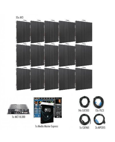 ADJ AV3X-IS-5x3 5x3 AV3 Video Wall Package for Permanent Installation AV3X-IS-5x3
